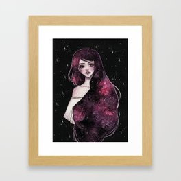 Galaxy hair 2/4 Framed Art Print