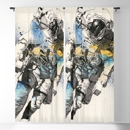 Clavius | astronaut floating in the space Blackout Curtain