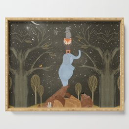 catching falling stars Serving Tray