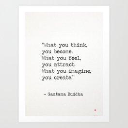 Buddha quote 5 Art Print