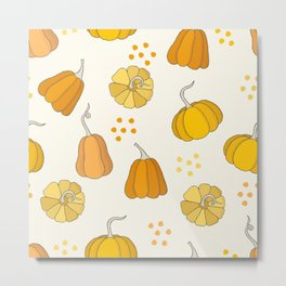 Orange and Yellow Pumpkins Metal Print