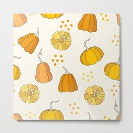 Orange and Yellow Pumpkins Metal Print