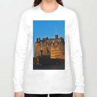 edinburgh Long Sleeve T-shirts featuring Edinburgh Castle by merialayne