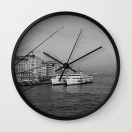 Bosphorus view from Galata Bridge Wall Clock