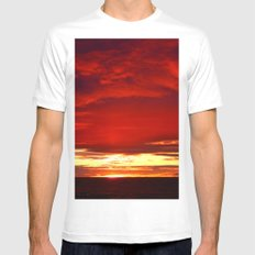Devil sky Above White MEDIUM Mens Fitted Tee