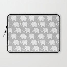 Elephant Parade on Grey Laptop Sleeve