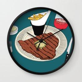 Heart-shaped steak! Wall Clock