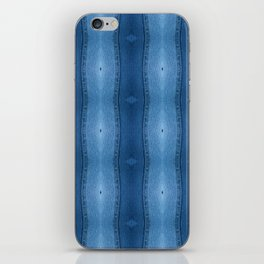 Denim Diamond Waves vertical patten iPhone Skin