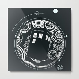 Negative Time and Space - Doctor Who inspired Metal Print