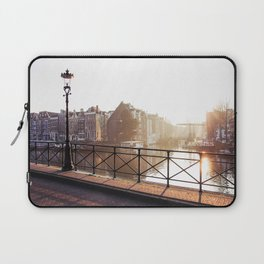 Amsterdam - Foggy Morning Laptop Sleeve