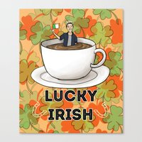 irish Canvas Prints featuring Irish Luck by girlwiththetea