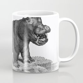 Illustration of Hippopotamus from Zoological lectures delivered at the Royal institution in the year Coffee Mug