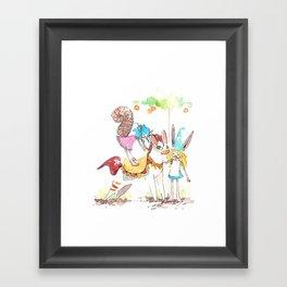 tiny tiny pony  Framed Art Print