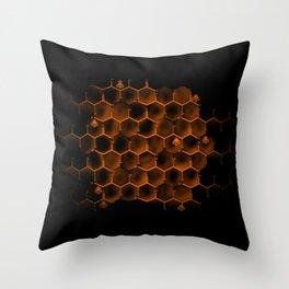 Glucose Hive Throw Pillow