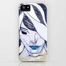 Blue Girl iPhone Case