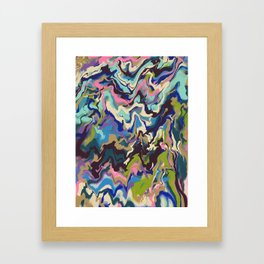 Techno Wave Framed Art Print