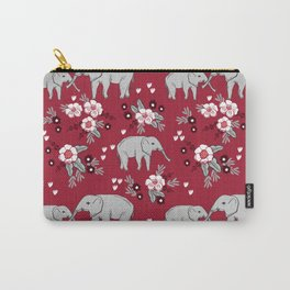 Alabama university crimson tide elephant pattern college sports alumni gifts Carry-All Pouch
