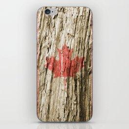 Canada on woods iPhone Skin