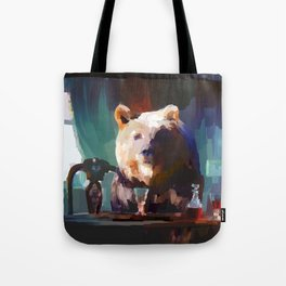 The Dinner Guest or The Bear who came to Dinner Tote Bag