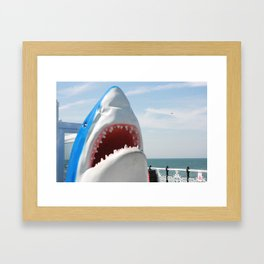 Shark! Framed Art Print
