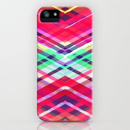 Modern Pink Tribal Plaid iPhone Case