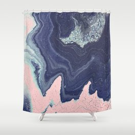 Fluid No. 11 - Geode Shower Curtain