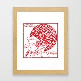 TMNT Pizza Framed Art Print