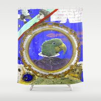 """kiki Shower Curtains featuring Katherine """"Kiki"""" Beaumont by ABC ART - Andrew Carter"""