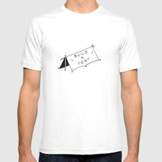 Build a fort Mens Fitted Tee White MEDIUM