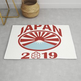 Japan 2019 Rugby Oval Ball Retro Rug