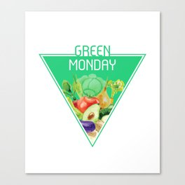 The optimal food triangle - Green Monday Canvas Print