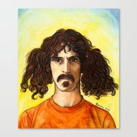 zappa Canvas Prints featuring Frank Zappa by IamDeirdre