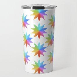 Rainbow Stars Travel Mug