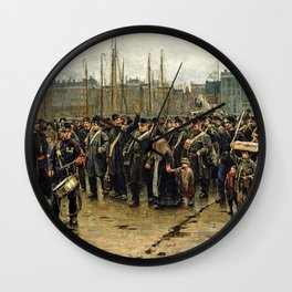 Transport Of Colonial Soldiers - Digital Remastered Edition Wall Clock