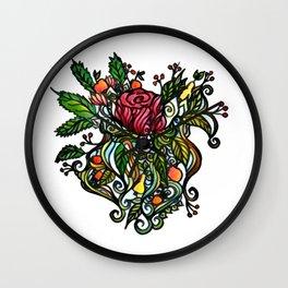 Rose Tattoo Wall Clock