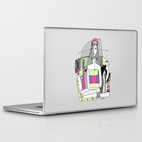 socks Laptop & iPad Skins featuring Funny socks by Zinaida Kazantseva