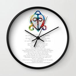 The Power Of Love - Native American Wedding Art - Sharon Cummings Wall Clock