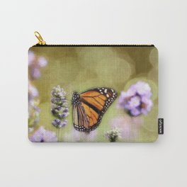 A Monarch and her Lavender Carry-All Pouch