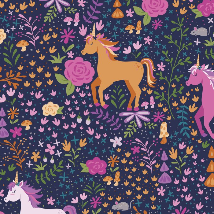 Unicorns Dancing in an Enchanted Garden Leggings