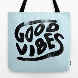 Good Vibes Typography Tote Bag