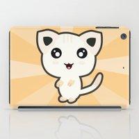 kawaii iPad Cases featuring Kawaii Cat by Nir P