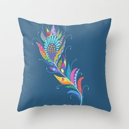 One Feather ... One World Throw Pillow