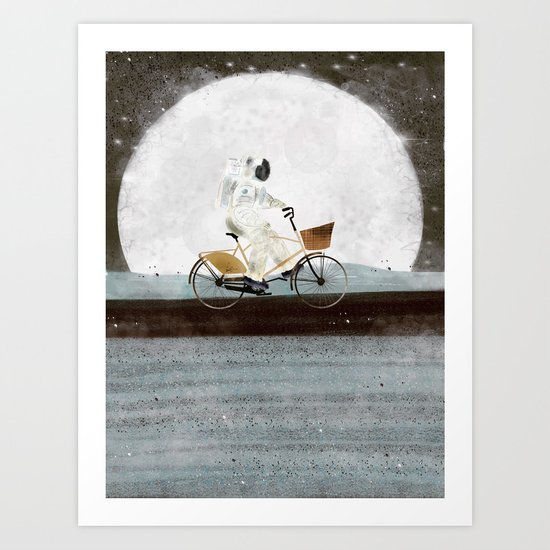shopping for astronauts Art Print