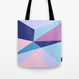 Geometrical pink teal lilac modern colorblock Tote Bag