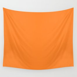 Turmeric FF842A Orange Solid Color Block Spring Summer Wall Tapestry