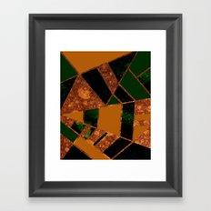 #455 Gold & Pothos Framed Art Print