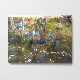 Autumn Leaves On The River Metal Print