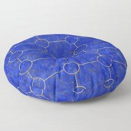 Lapis Lazuli Tiles Floor Pillow