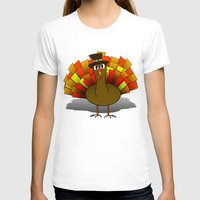 thanksgiving T-shirts featuring Thanksgiving Turkey Pilgrim by Gravityx9