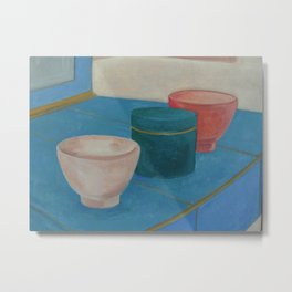 Still life - 3 Cups Metal Print